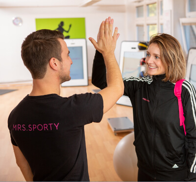 Mrs.Sporty Franchisepartner im Fitnessstudio