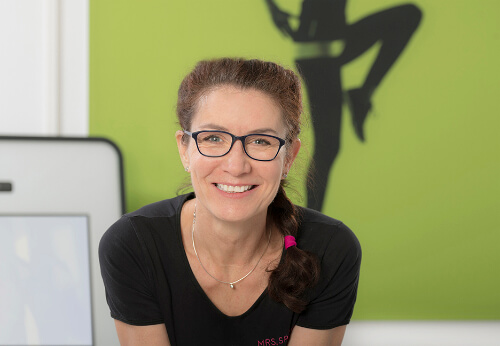 Franchisenehmerin Angelika Laurer in ihrem Mrs.Sporty Club Seeheim